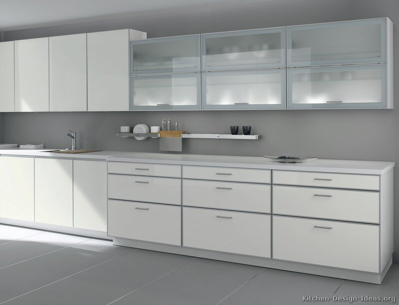 Pictures of kitchens modern white kitchen cabinets page 2 Kitchen profile glass design