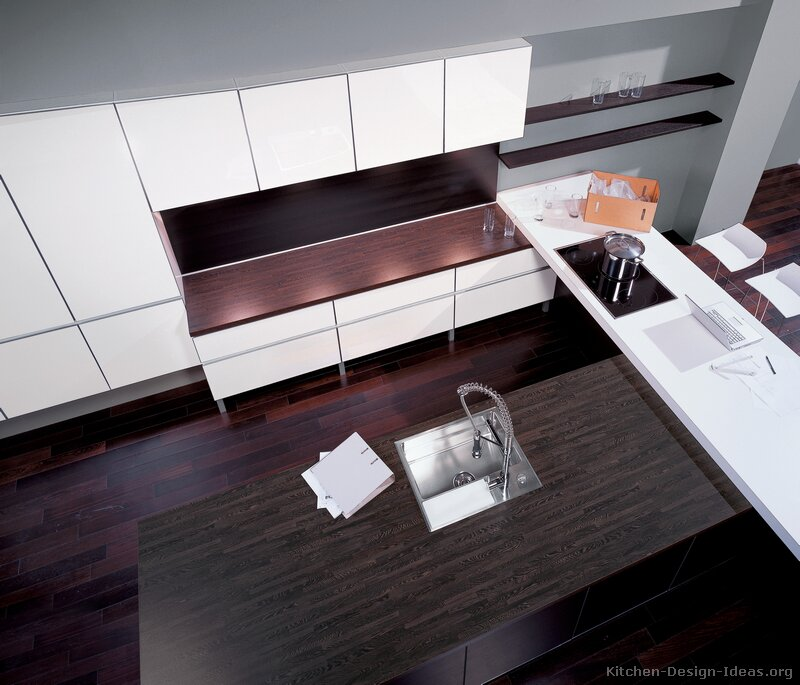Modern White Kitchen Dark Floor pictures of kitchens - modern - white kitchen cabinets (page 3)