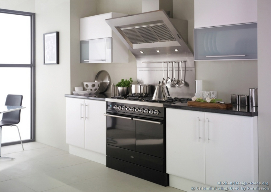 Minimalist Kitchen in Black, White, and Gray