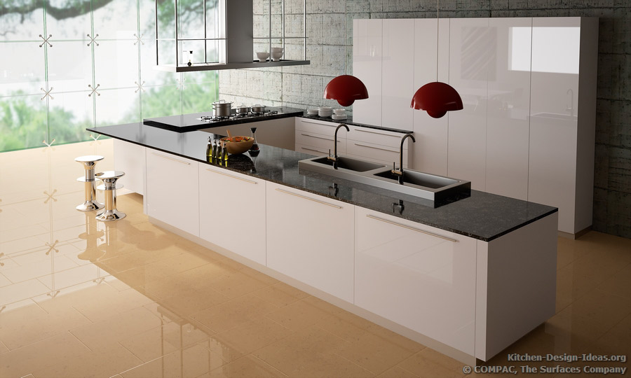 Modern Kitchen Quartz Countertops compac quartz - pictures of kitchen countertops & surfaces