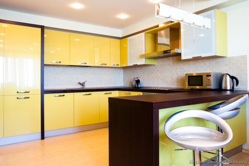 pictures of kitchens modern yellow kitchens kitchen 7