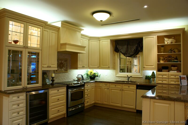 Off White Kitchen Backsplash pictures of kitchens - traditional - off-white antique kitchen