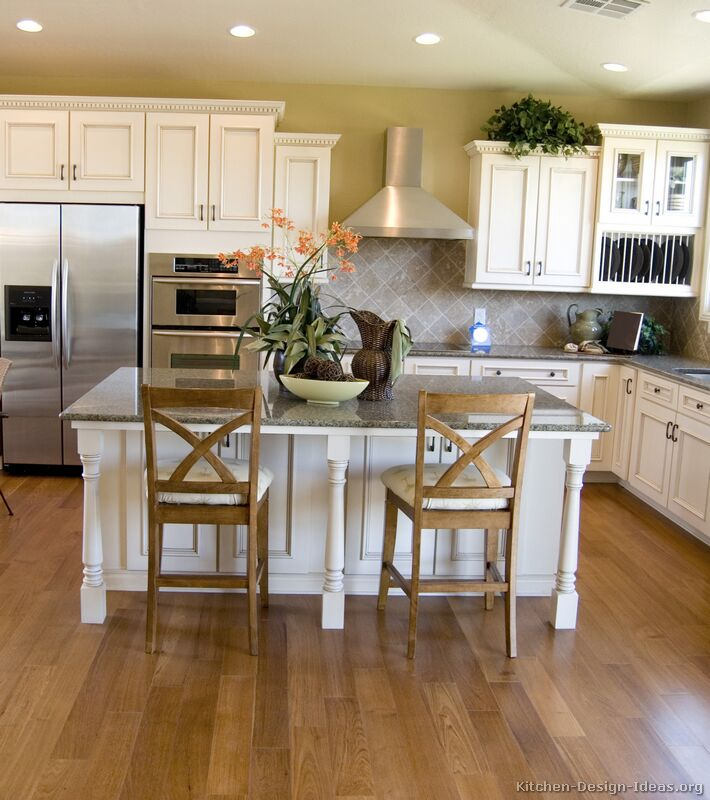 Oak Cabinets Kitchen Island Designs: Pictures Of Kitchens