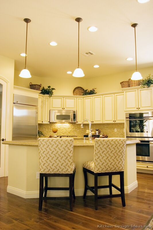 Kitchen Ideas with White Cabinets Yellow Walls