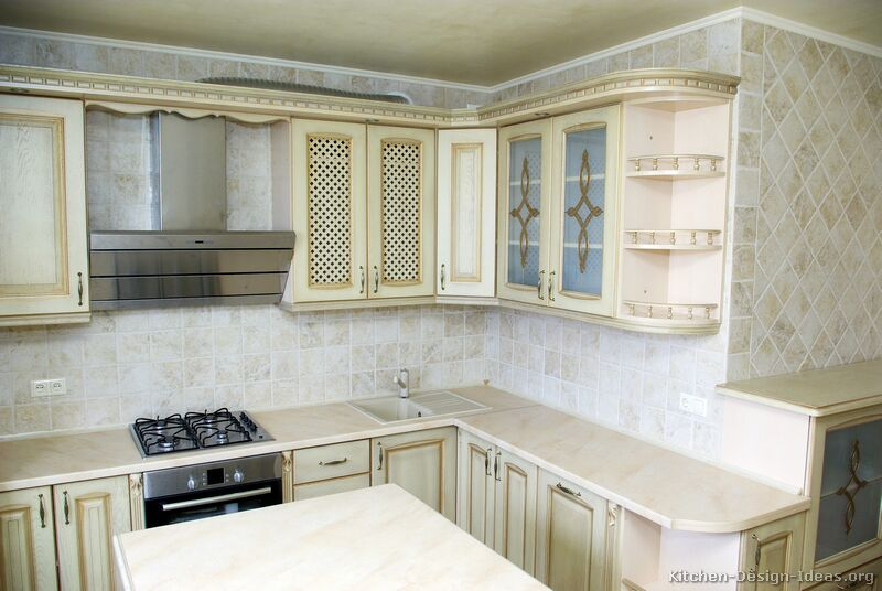 Pictures Of Kitchens Traditional Off White Antique Kitchens Kitchen 20