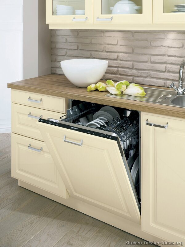 Countertop Dishwasher In Cabinet : Pictures of Kitchens - Traditional - Off-White Antique Kitchens ...