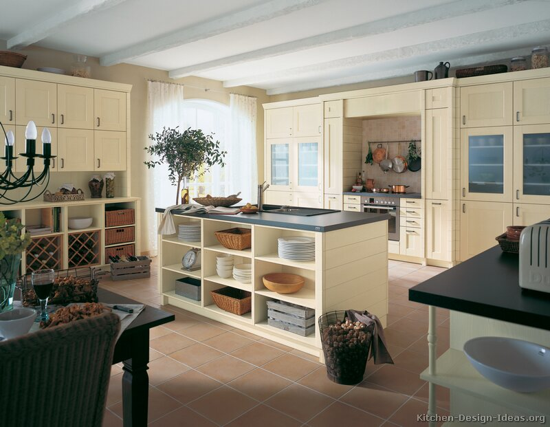 Kitchen Design Ideas Painted Cabinets pictures of kitchens - traditional - off-white antique kitchen