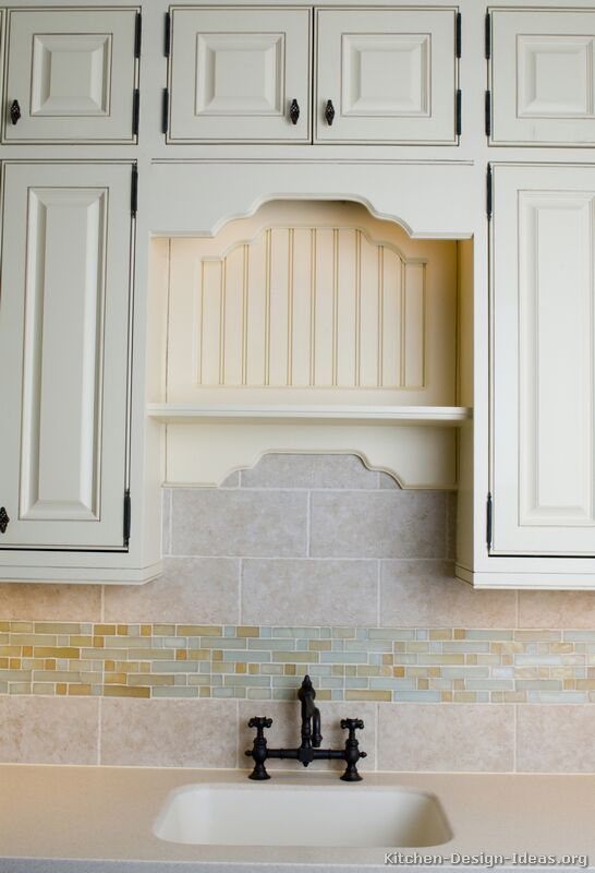 Pictures of kitchens traditional off white antique kitchen cabinets page 2 - Traditional kitchen tile backsplash ideas ...