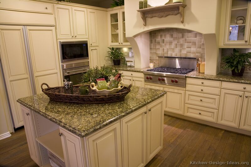 41, Traditional Antique White Kitchen