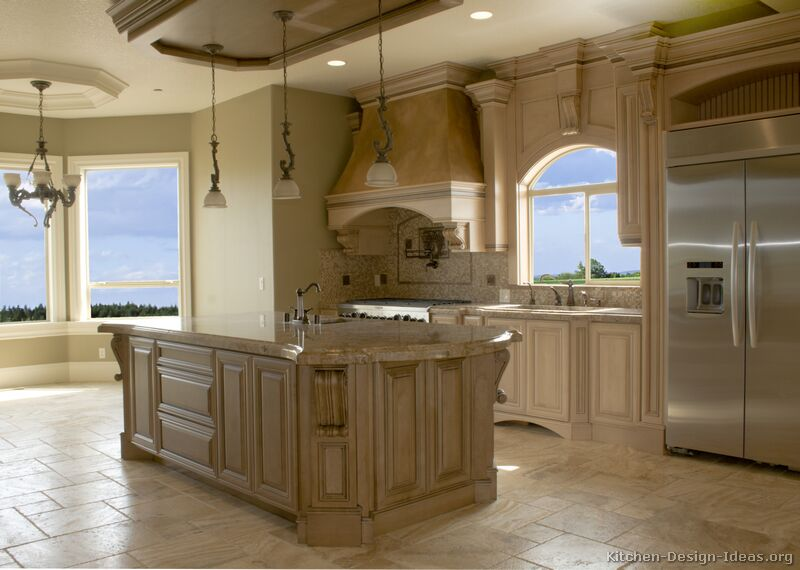 44, Traditional Antique White Kitchen