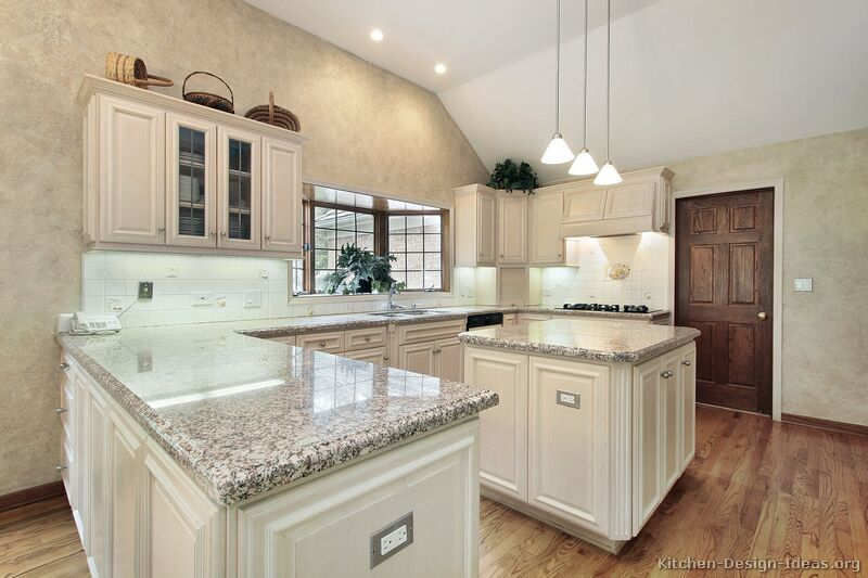 65, Traditional Antique White Kitchen