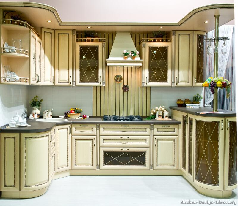 Kitchen antique home design and decor reviews for Traditional kitchen cabinet ideas