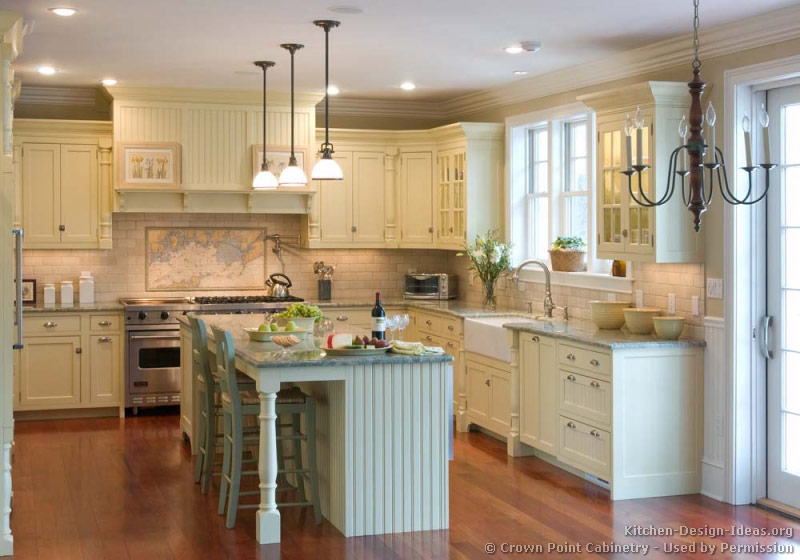 White Country Kitchen Cabinets. 02, Traditional Antique White ...