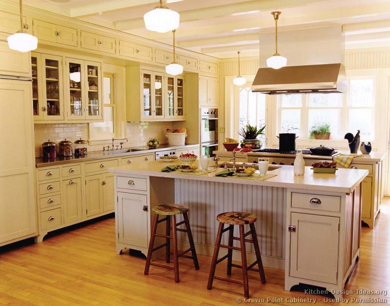 Victorian kitchens cabinets design ideas and pictures for Antique white kitchen cabinets