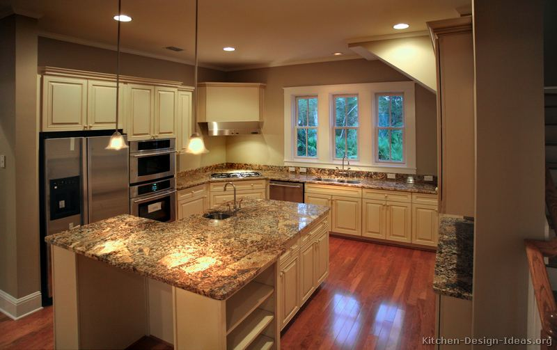 Pictures of kitchens traditional off white antique kitchen cabinets page 3 - Granite kitchen design ...