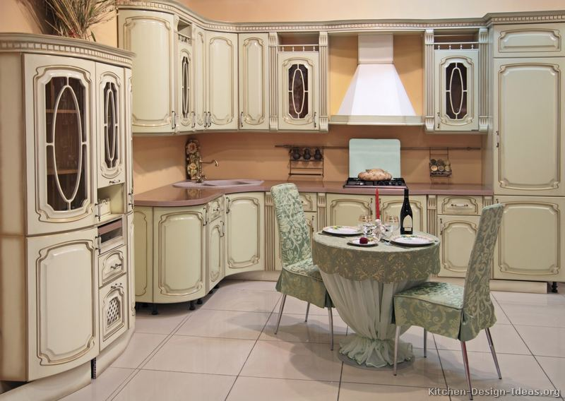 Antique Kitchen Design Ideas ~ Italian kitchen design traditional style cabinets decor