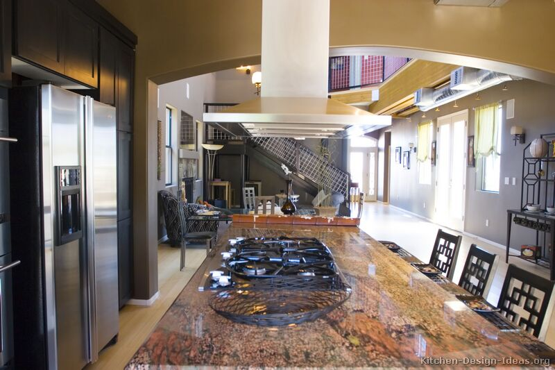 Asian kitchen design inspiration kitchen cabinet styles for Large open kitchen designs