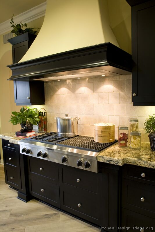 Kitchen Cabinets Traditional Black S Wood Hood Island on Kitchen Island Breakfast Bar