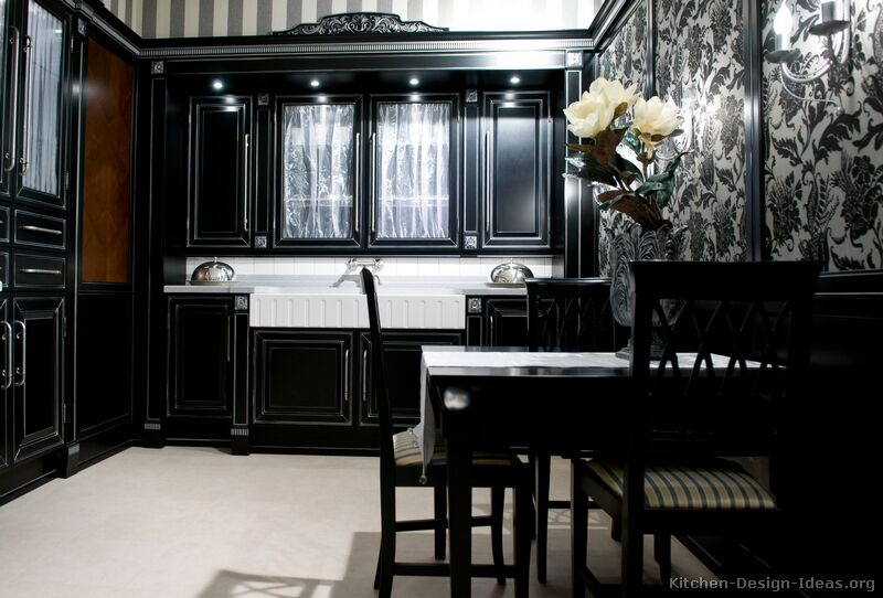02 more pictures traditional black kitchen - Black Kitchen Cabinets Pictures
