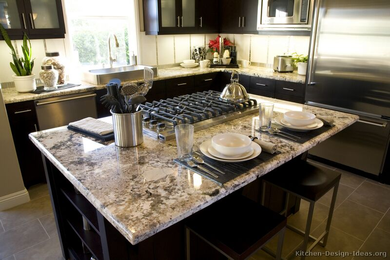 Pictures of kitchens traditional black kitchen for Kitchen remodel ideas with dark cabinets