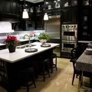 Traditional Black Kitchens
