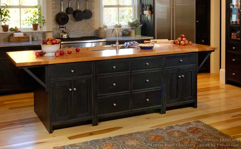 Of Kitchens Traditional Black Kitchen Cabinets Kitchen 10