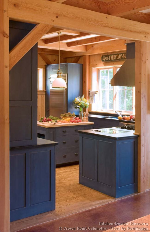 of Kitchens Traditional Blue Kitchen Cabinets