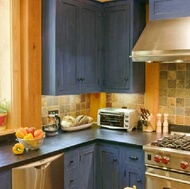 Traditional Blue Kitchen