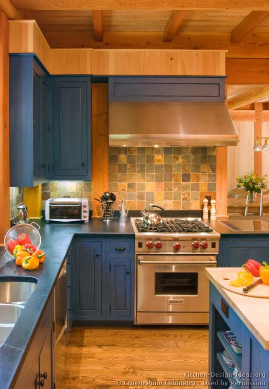 of Kitchens  Traditional  Blue Kitchen Cabinets (Kitchen #2