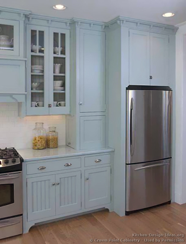Pictures of kitchens traditional blue kitchen cabinets for Kitchen pictures