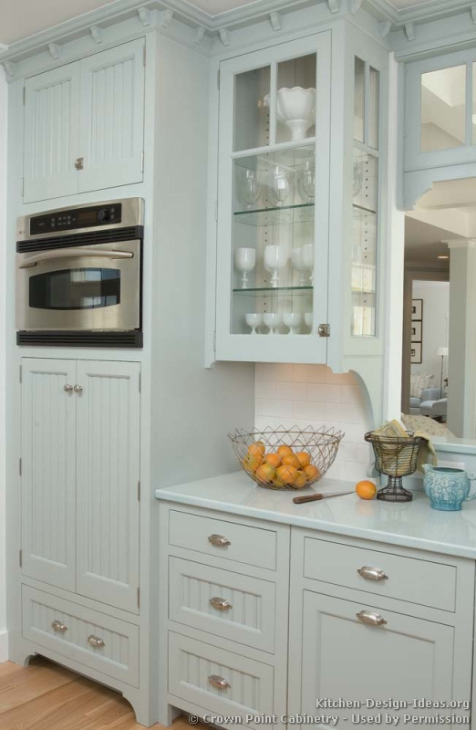 Pictures of kitchens traditional blue kitchen cabinets - Kitchen built in cupboards designs ...