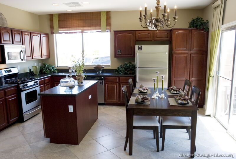 Kitchen Ideas Cherry Colored Cabinets pictures of kitchens - traditional - dark wood kitchens, cherry-color