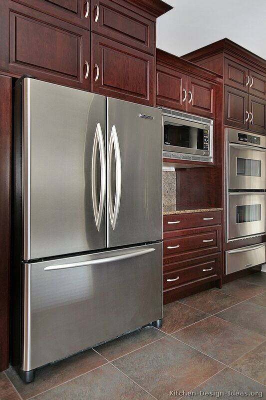 pictures of kitchens traditional dark wood kitchens cherry color page 2. Black Bedroom Furniture Sets. Home Design Ideas