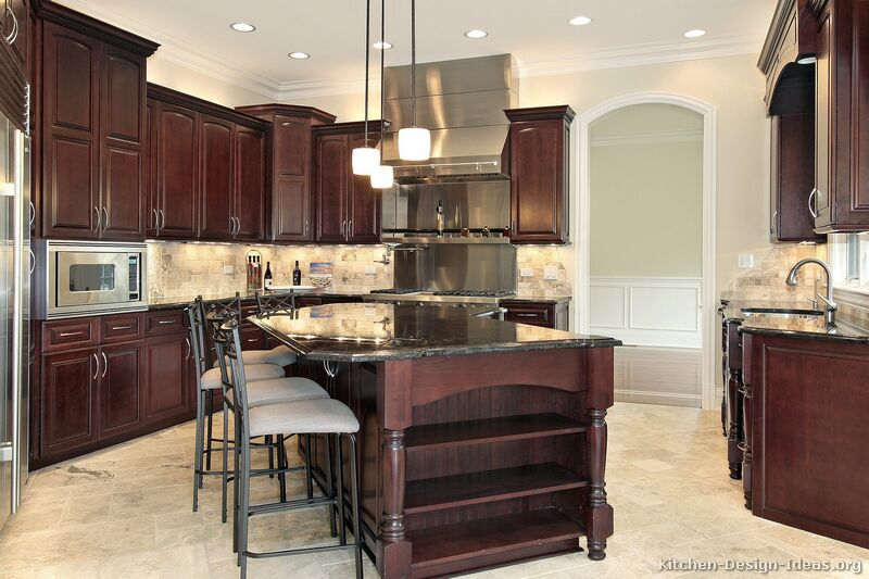Kitchen Paint Colors With Dark Wood Cabinets kitchen paint colors