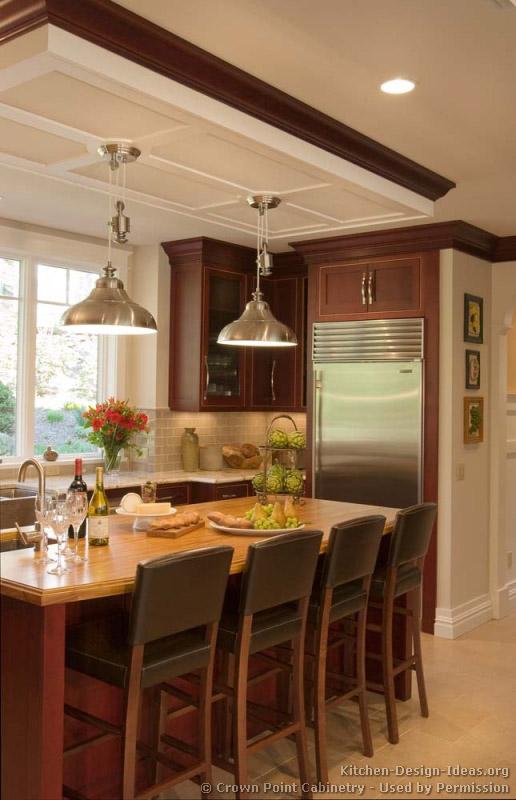 Pictures kitchens traditional dark wood golden brown for Cherry kitchen ideas