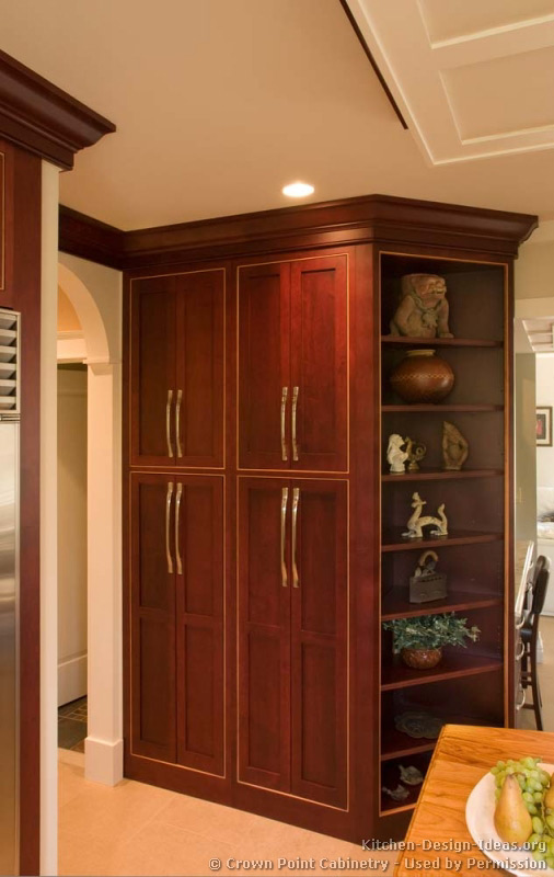 Dark wood pantry cabinet