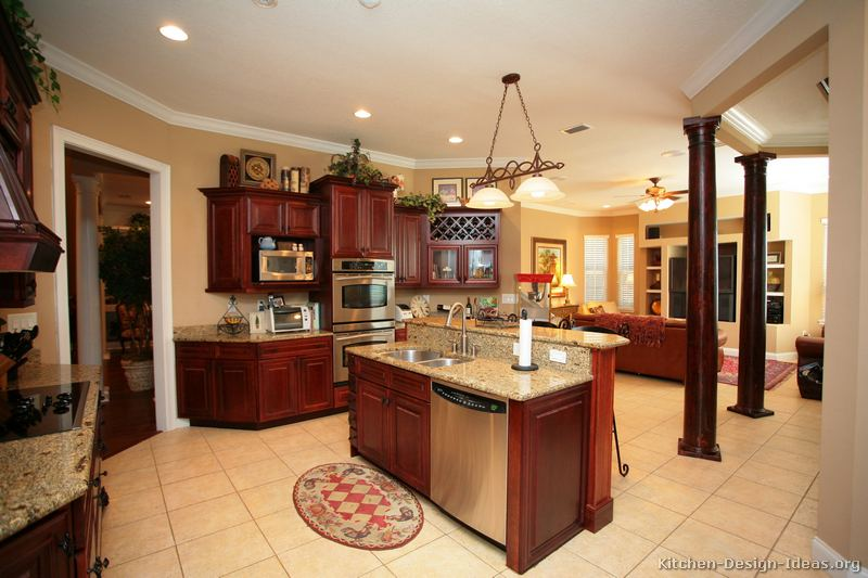of Kitchens  Traditional  Dark Wood, CherryColor Kitchen 48