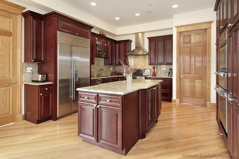 Best Kitchen Images On Pinterest Kitchen Ideas Cherry - Kitchen ideas with cherry wood cabinets