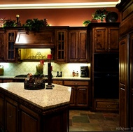 Traditional Dark Wood (Golden) Kitchen