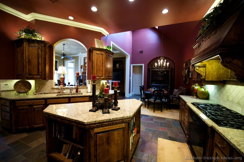 pictures of kitchens traditional dark wood golden