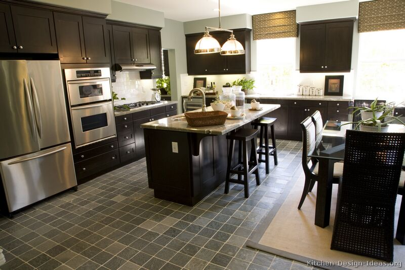 Black friday kitchen of the day shaker espresso for Black kitchen cabinets with dark floors