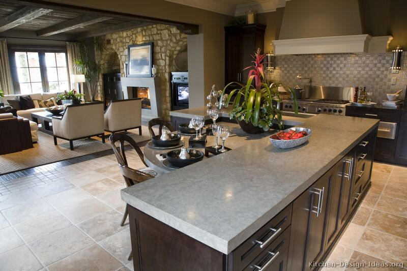 Transitional Luxury Kitchen with Espresso Shaker Cabinets (2 of 2)