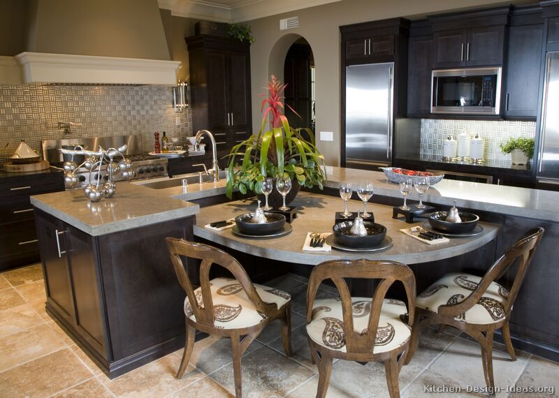 A Transitional Luxury Kitchen with Espresso Shaker Cabinets