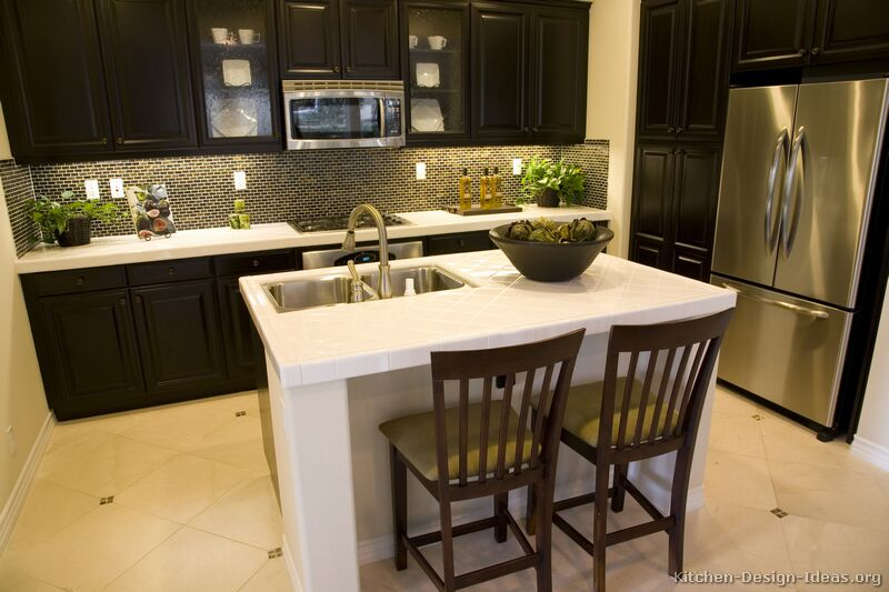espresso kitchen cabinets. 13  Traditional Dark Wood Black Espresso Kitchen Pictures of Kitchens Cabinets