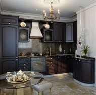 Traditional Dark Wood / Black / Espresso Kitchen