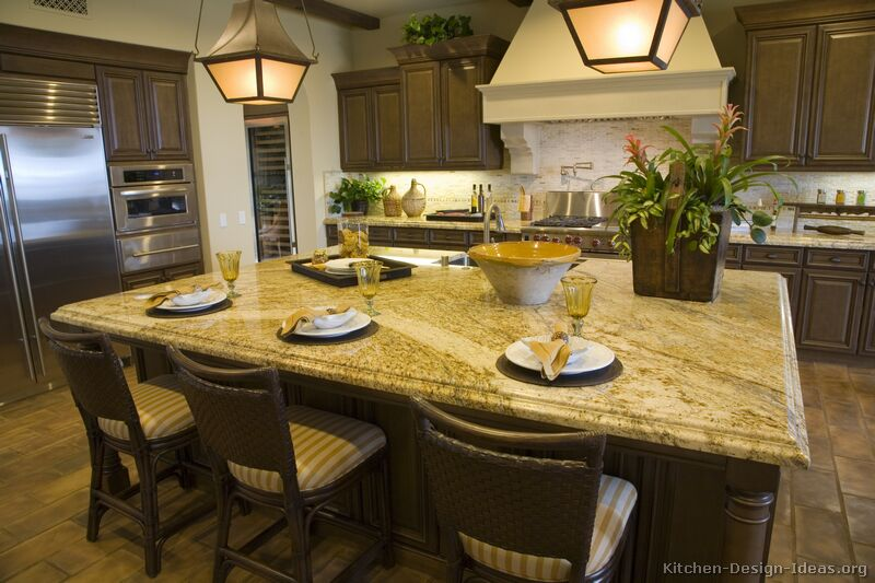 Grey flooring kitchen natural wood cabinets http www Gourmet kitchen plans