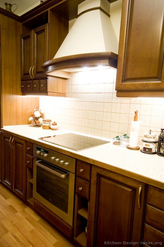 of Kitchens  Traditional  Dark Wood, Walnut Color (Kitchen #11