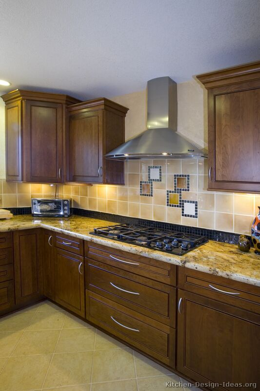 Pictures Of Kitchens Traditional Dark Wood Walnut Color Kitchen 12