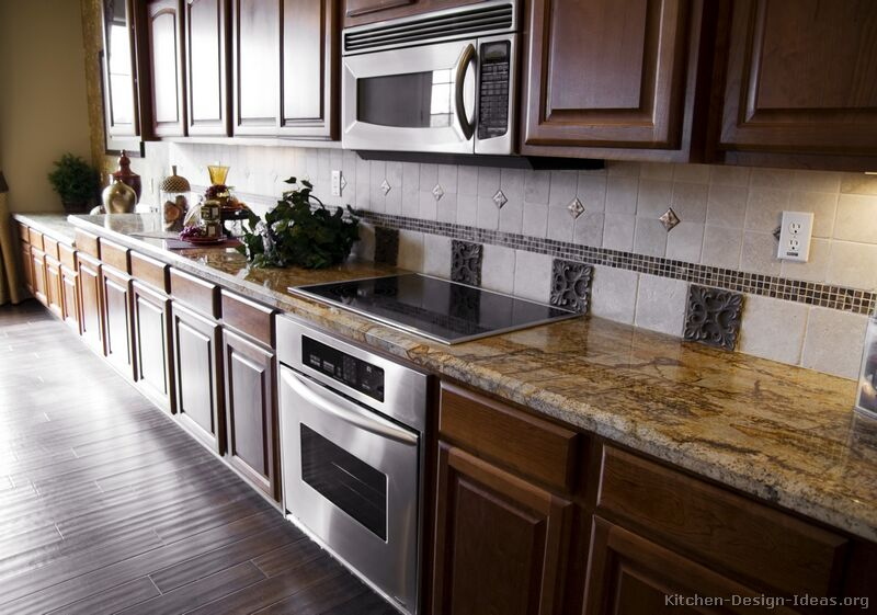 pictures of kitchens traditional dark wood kitchens walnut color - Kitchen Designs Dark Cabinets