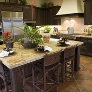 Traditional Dark Wood (Walnut Color) Kitchens
